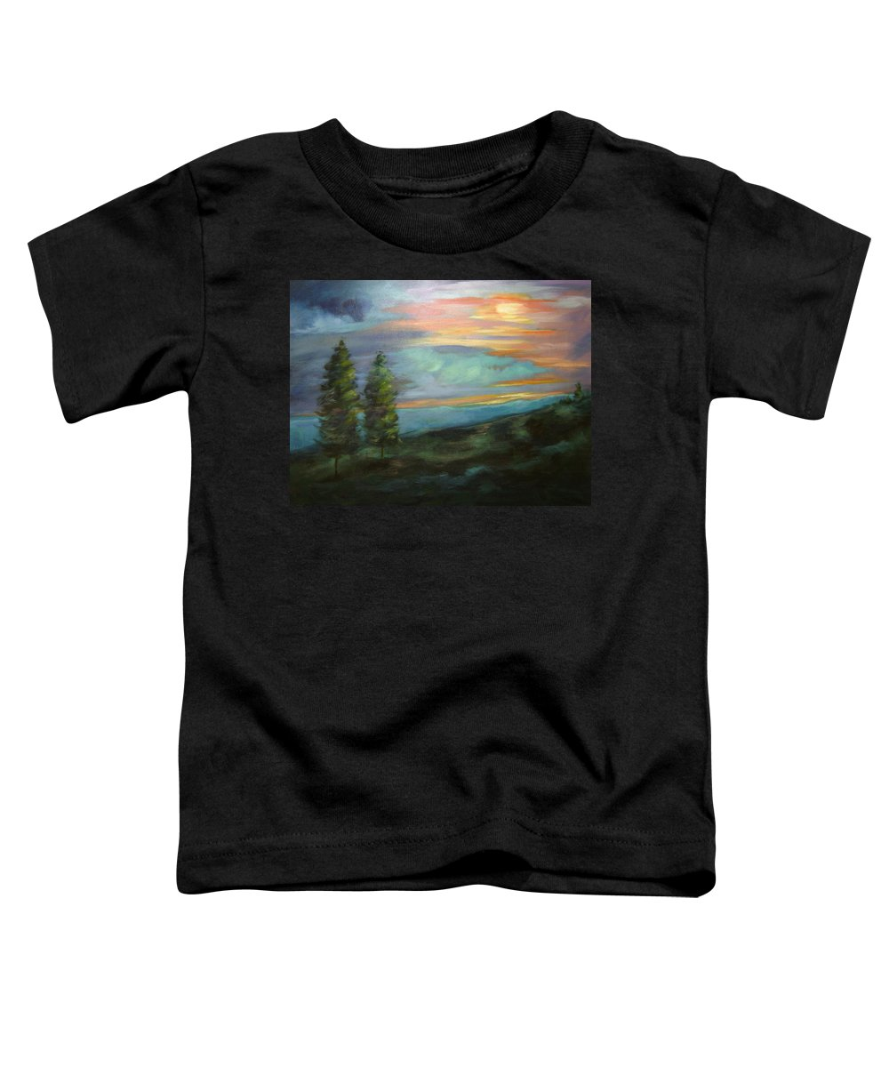 Landscape Toddler T-Shirt featuring the painting Soledad by Ginger Concepcion