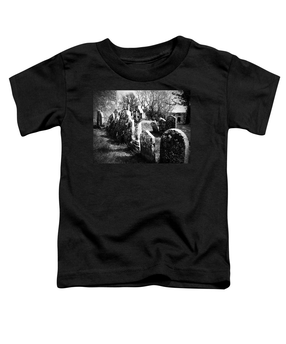 Ireland Toddler T-Shirt featuring the photograph Solitary Cross At Fuerty Cemetery Roscommon Irenand by Teresa Mucha