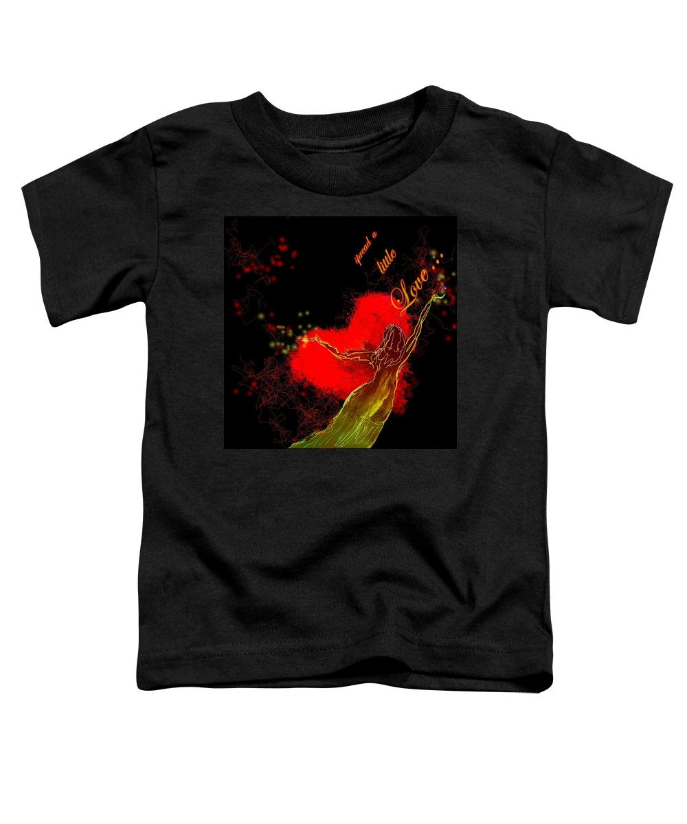 Love Toddler T-Shirt featuring the painting Spread A Little Love by Miki De Goodaboom