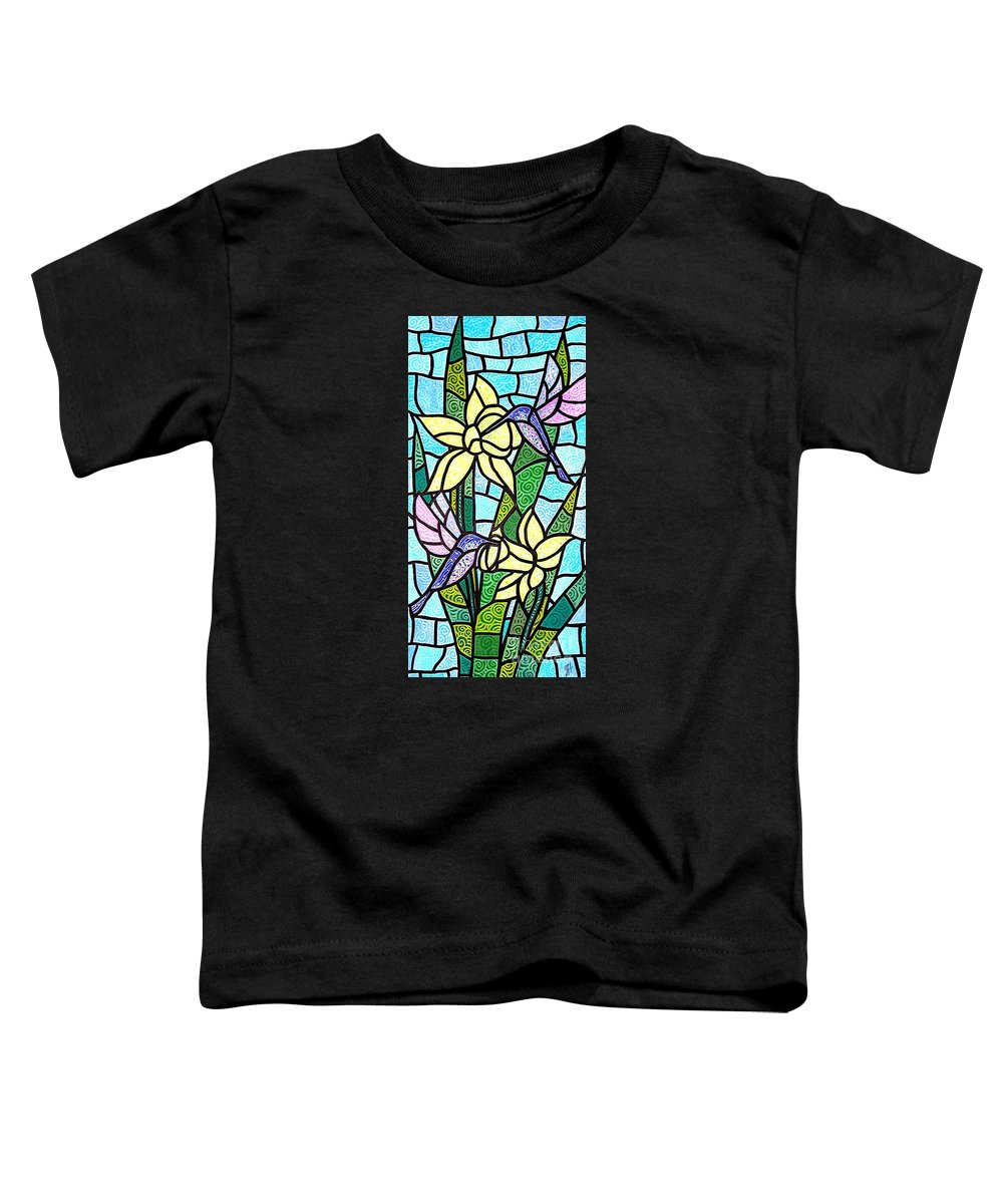Flowers Toddler T-Shirt featuring the painting Spring Fling by Jim Harris