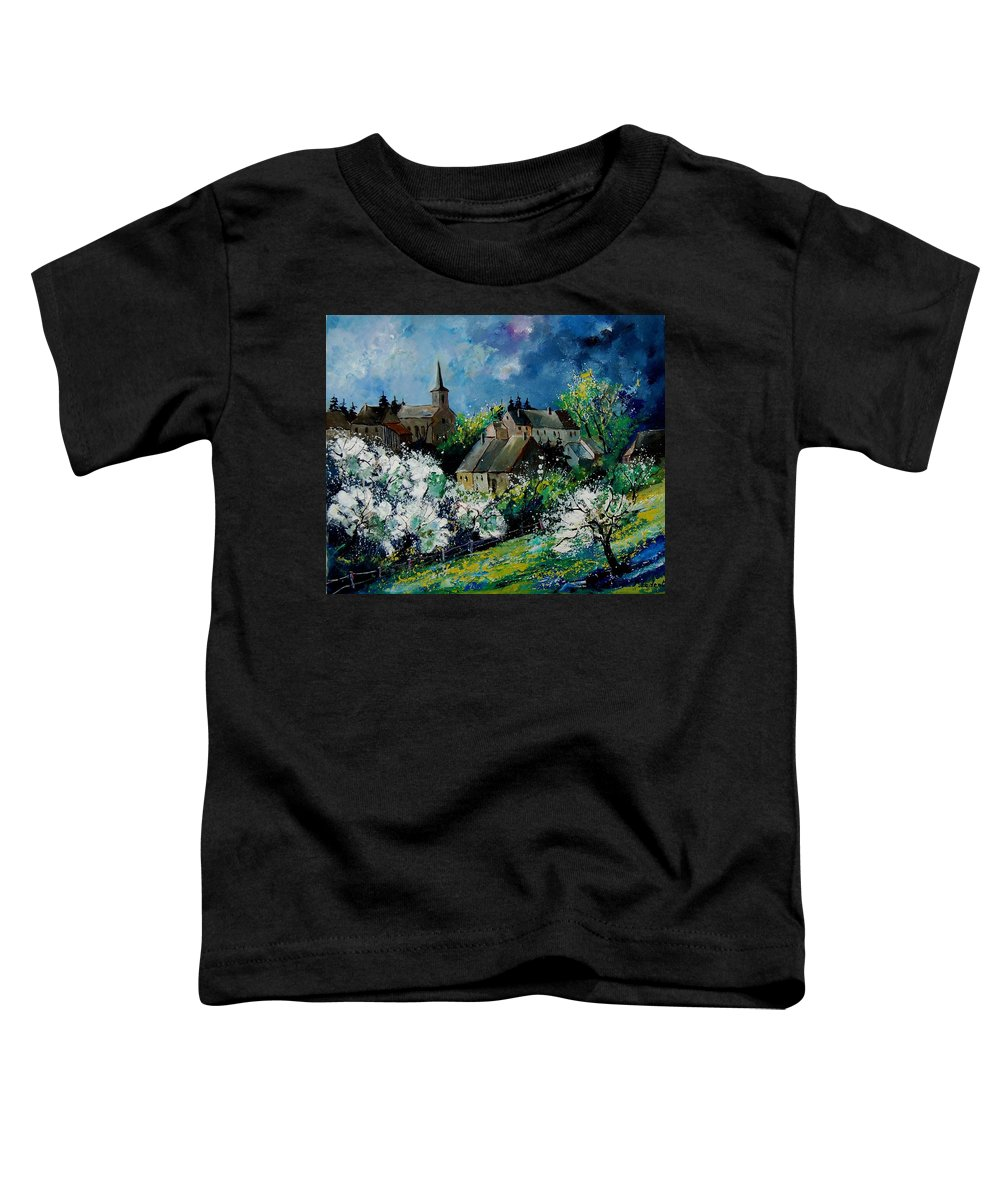 Spring Toddler T-Shirt featuring the painting Spring In Fays Famenne by Pol Ledent