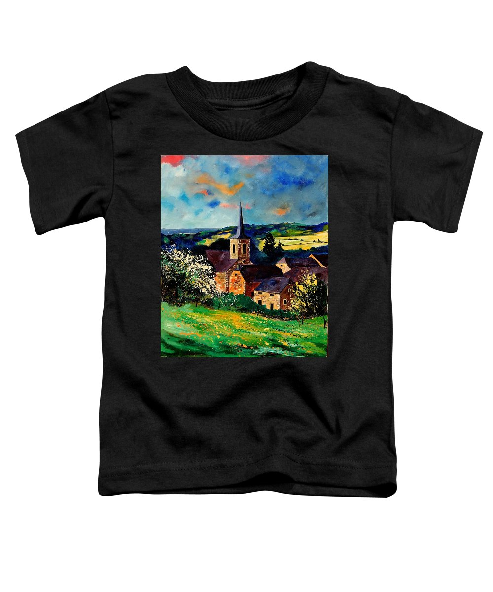 Spring Toddler T-Shirt featuring the painting Spring In Gendron by Pol Ledent
