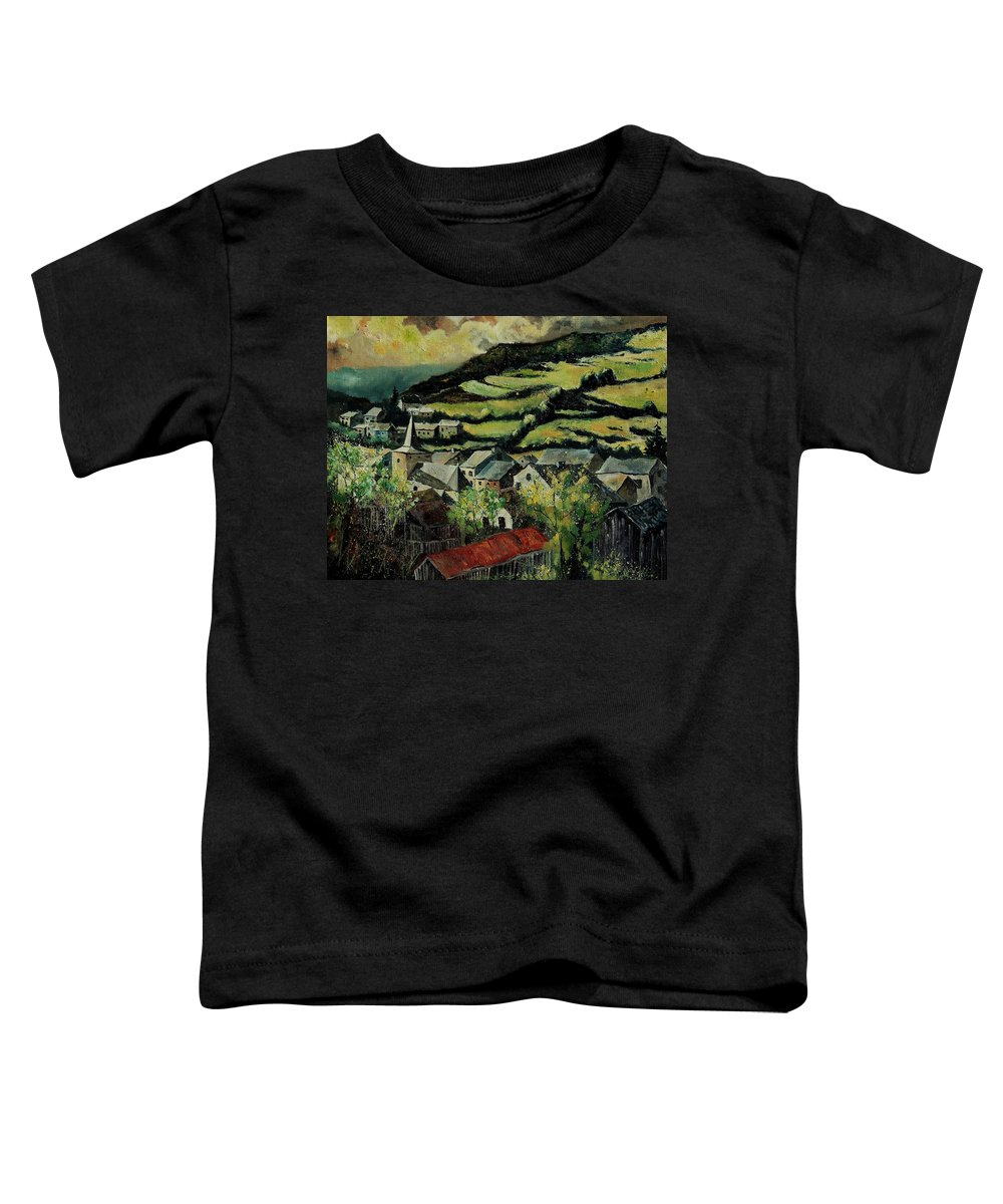 Spring Toddler T-Shirt featuring the painting Spring In Vresse Ardennes Belgium by Pol Ledent