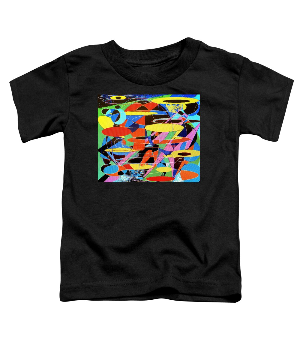 Abstract Toddler T-Shirt featuring the digital art Star Wars by Ian MacDonald