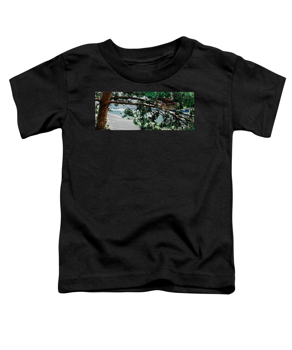 Landscape Toddler T-Shirt featuring the painting Stealth by Steve Karol