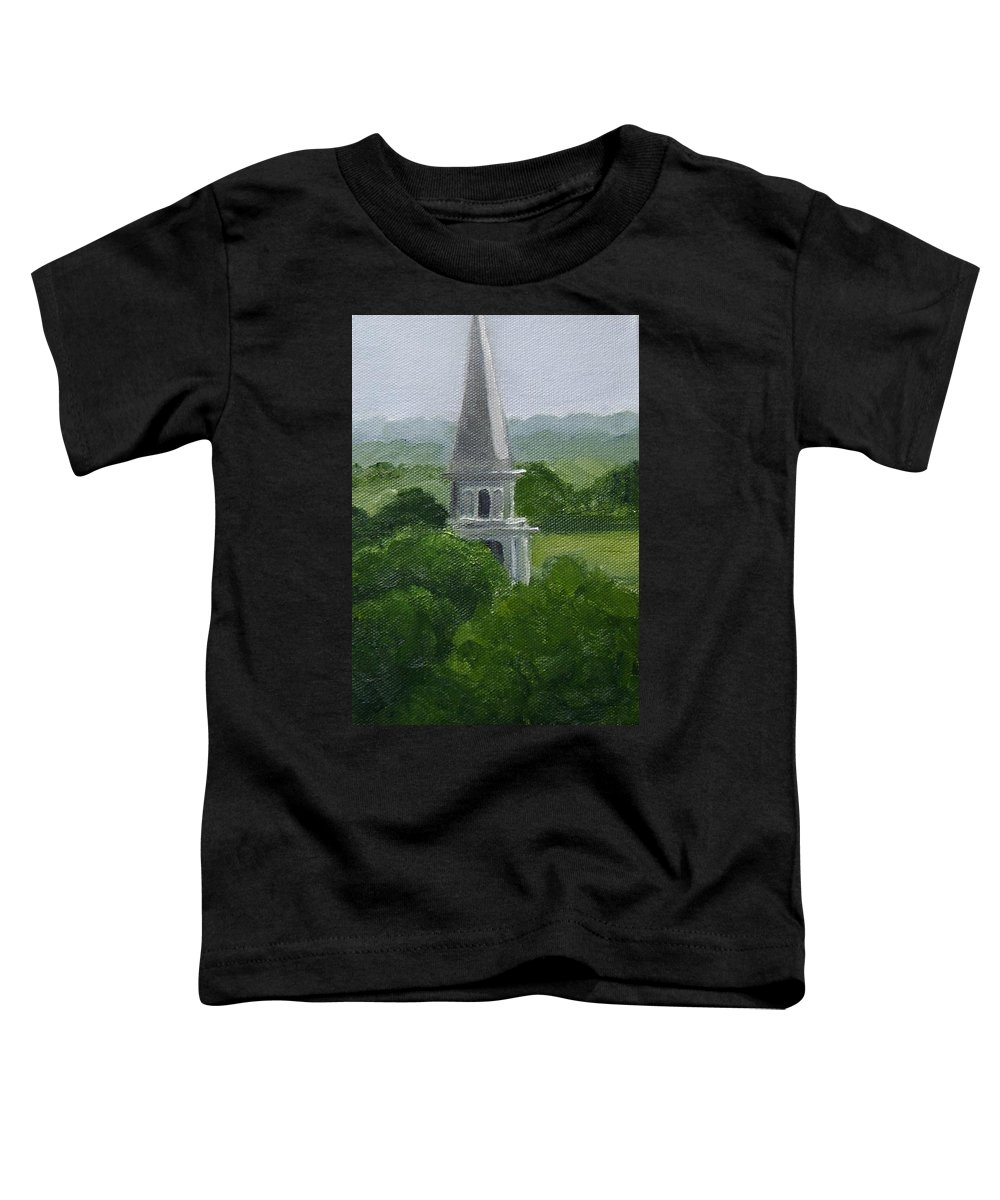 Steeple Toddler T-Shirt featuring the painting Steeple by Toni Berry