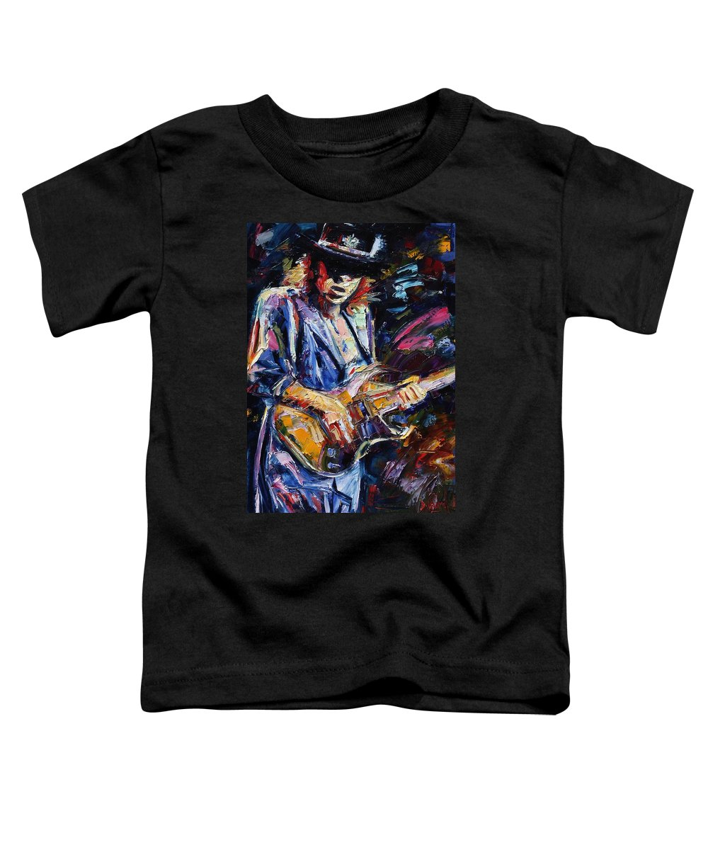 Stevie Ray Vaughan Painting Toddler T-Shirt featuring the painting Stevie Ray Vaughan by Debra Hurd