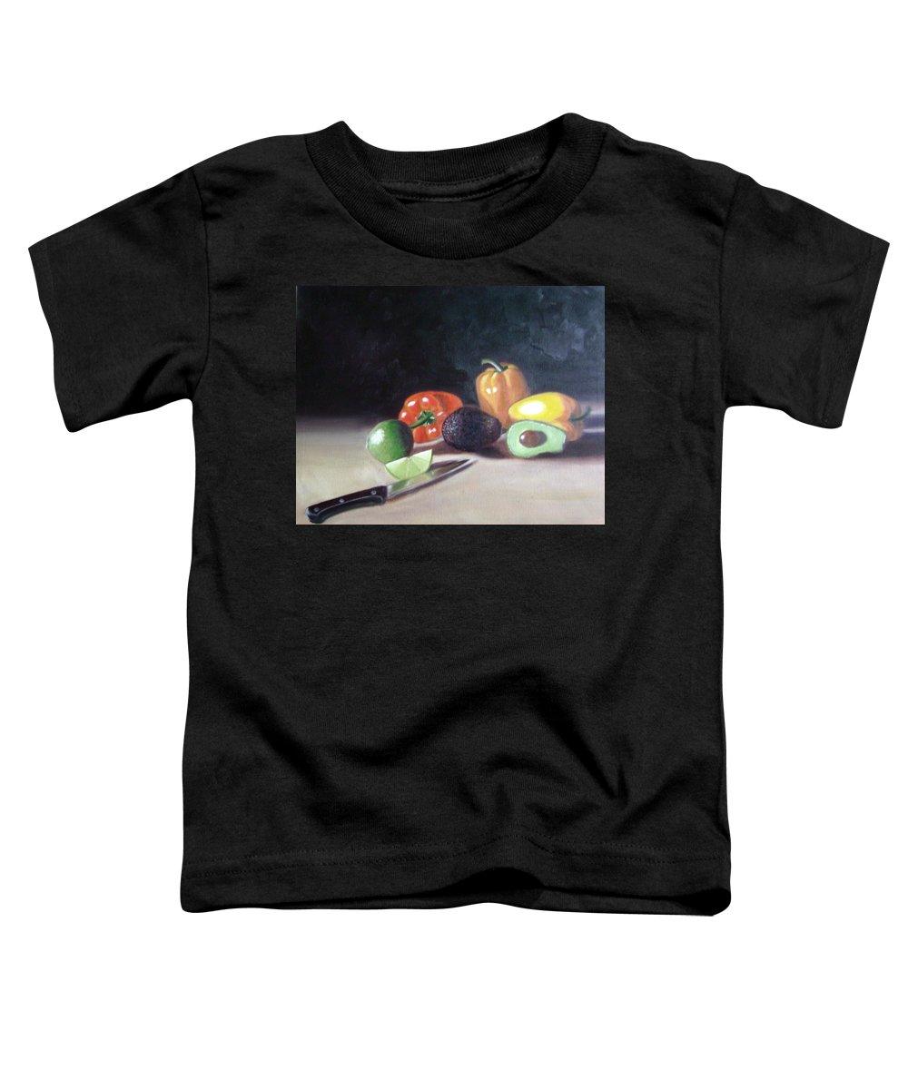 Toddler T-Shirt featuring the painting Still-life by Toni Berry
