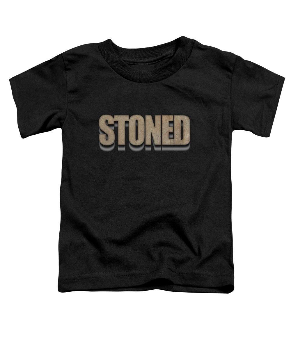Stoned Toddler T-Shirt featuring the digital art Stoned Tee by Edward Fielding