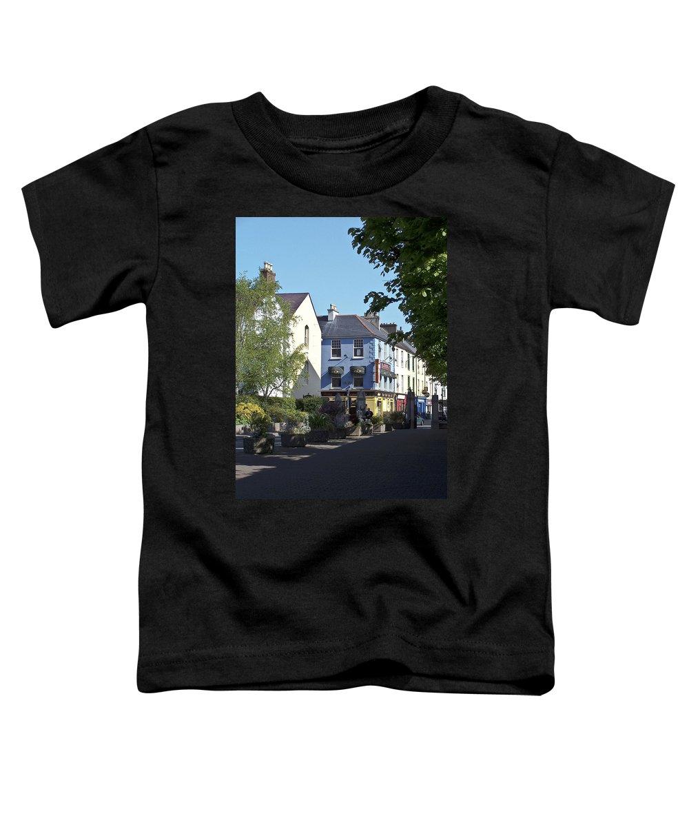 Irish Toddler T-Shirt featuring the photograph Street Corner In Tralee Ireland by Teresa Mucha