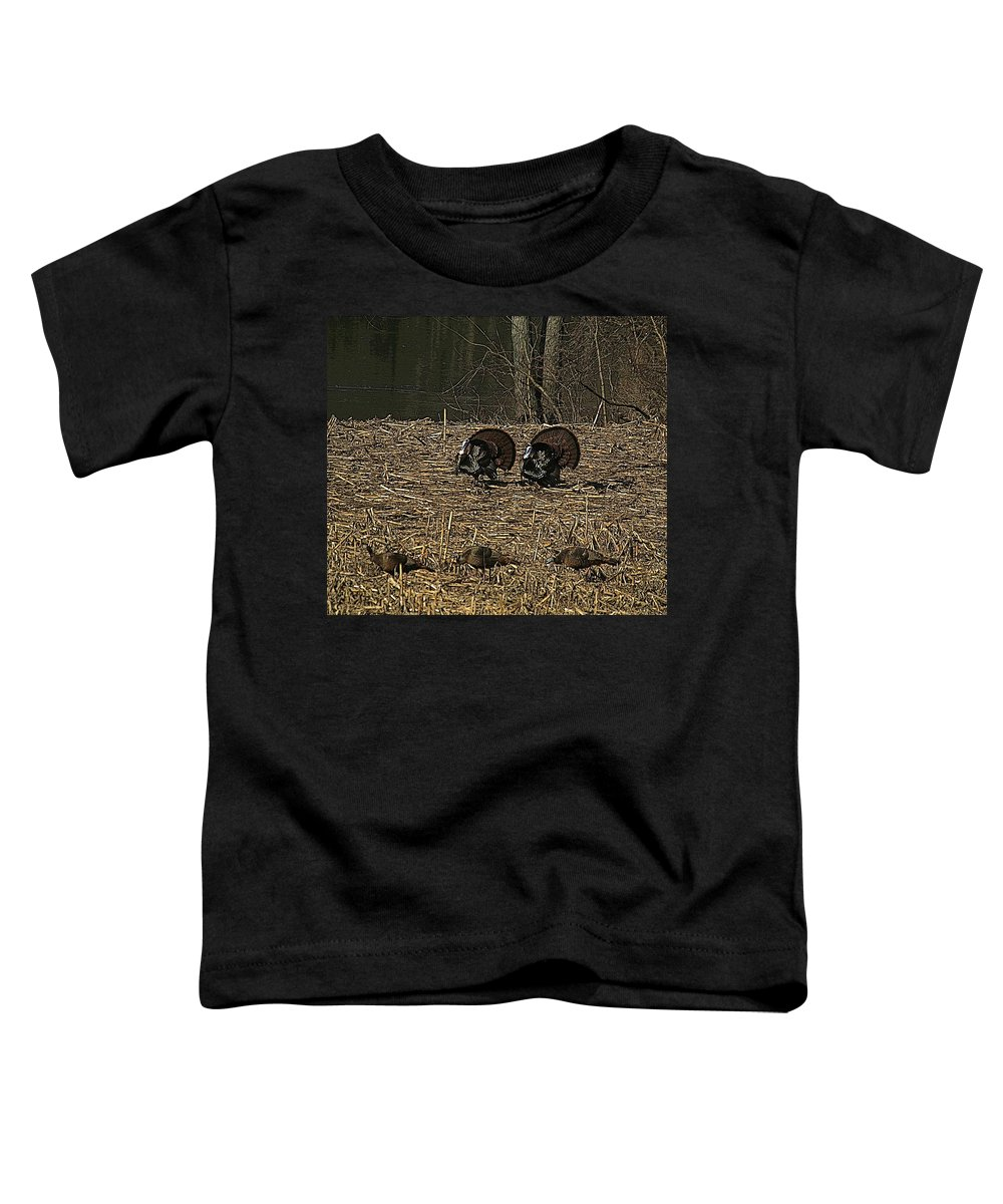 Turkey Toddler T-Shirt featuring the photograph Strutin For The Ladies by Robert Pearson