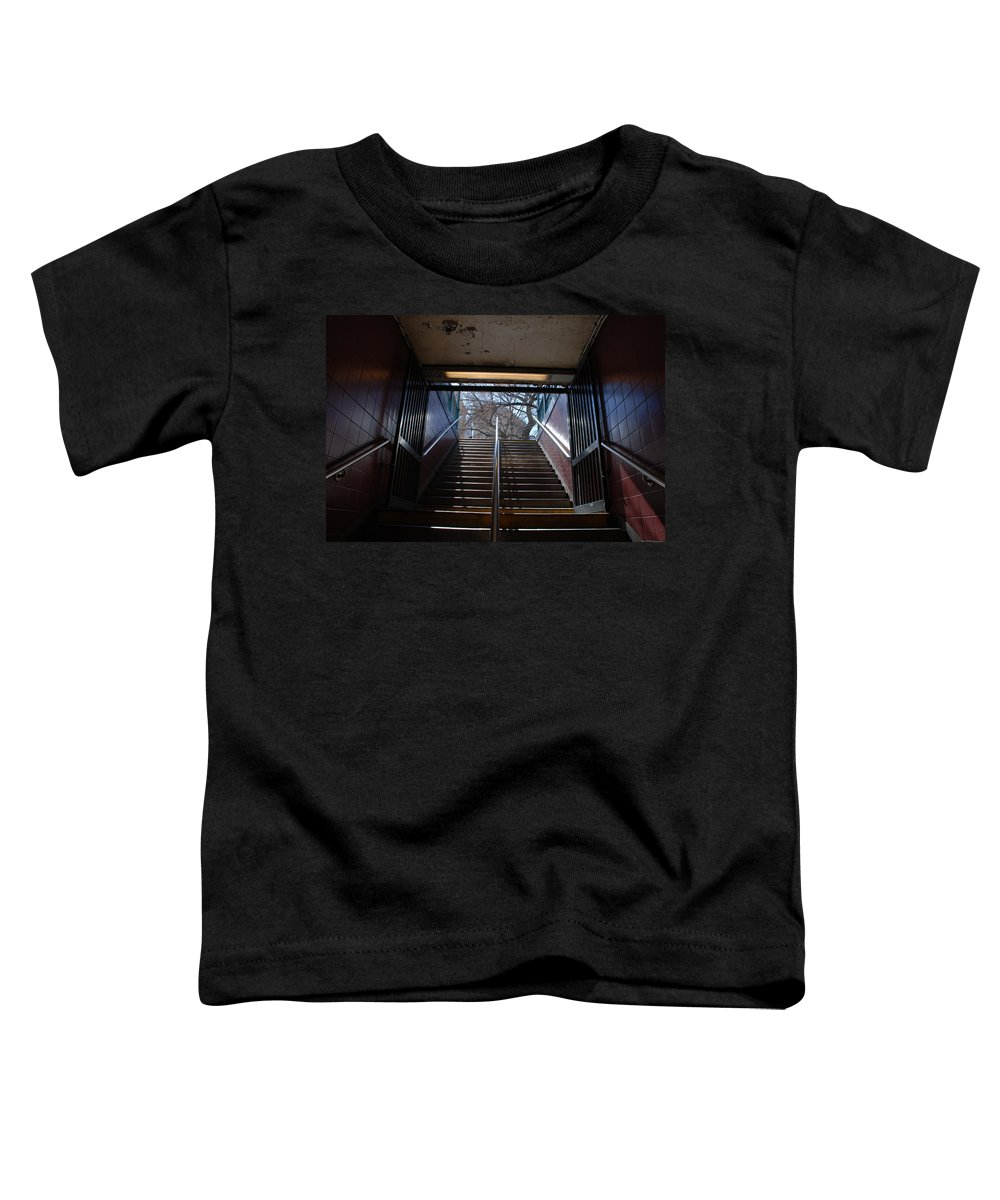 Pop Art Toddler T-Shirt featuring the photograph Subway Stairs To Freedom by Rob Hans