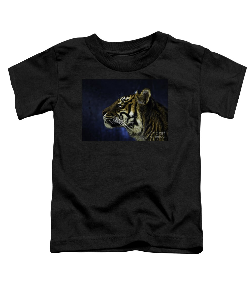 Sumatran Tiger Toddler T-Shirt featuring the photograph Sumatran Tiger Profile by Sheila Smart Fine Art Photography