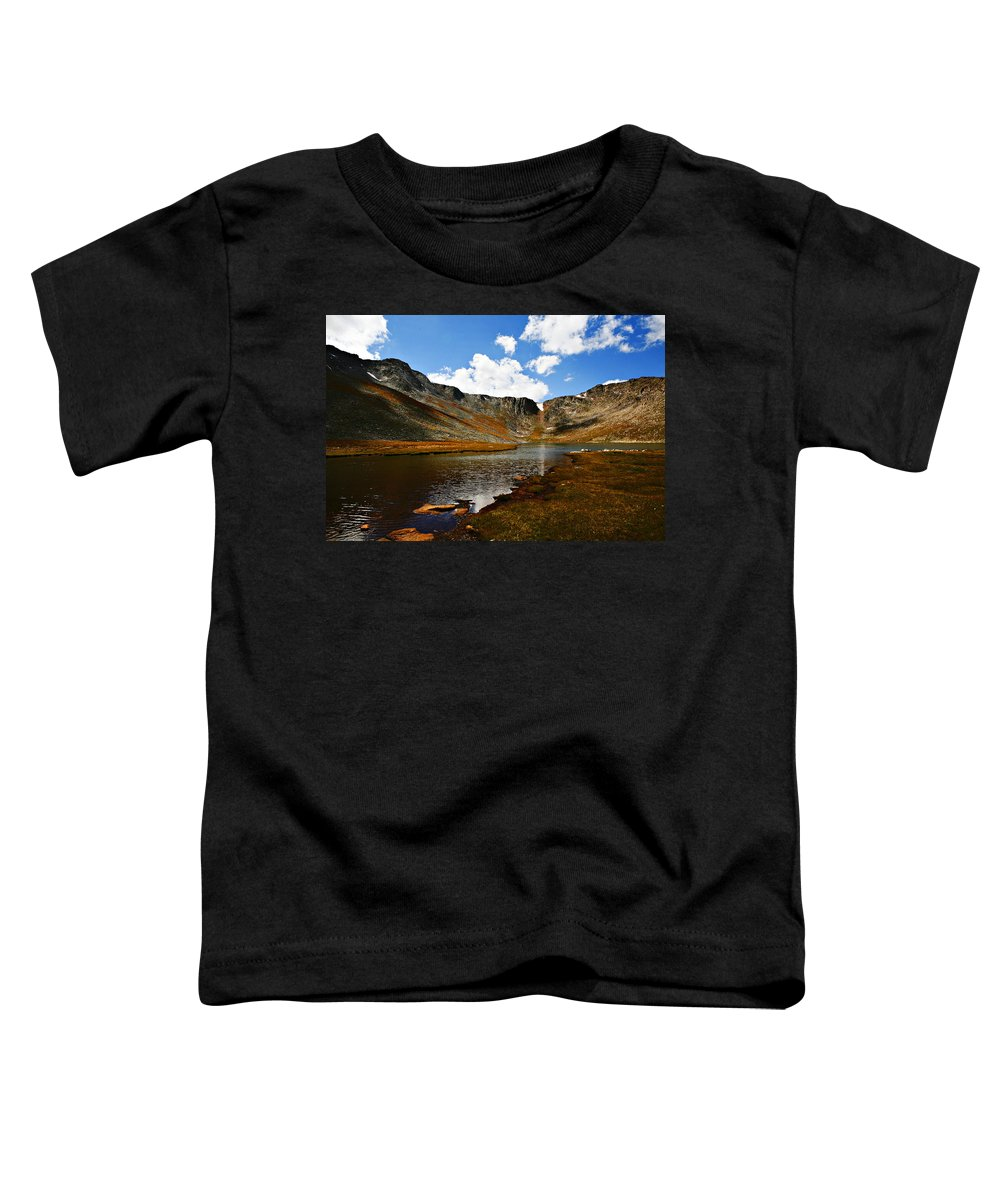 Travel Toddler T-Shirt featuring the photograph Summit Lake Colorado by Marilyn Hunt