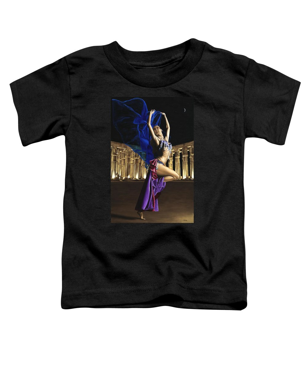 Belly Toddler T-Shirt featuring the painting Sun Court Dancer by Richard Young