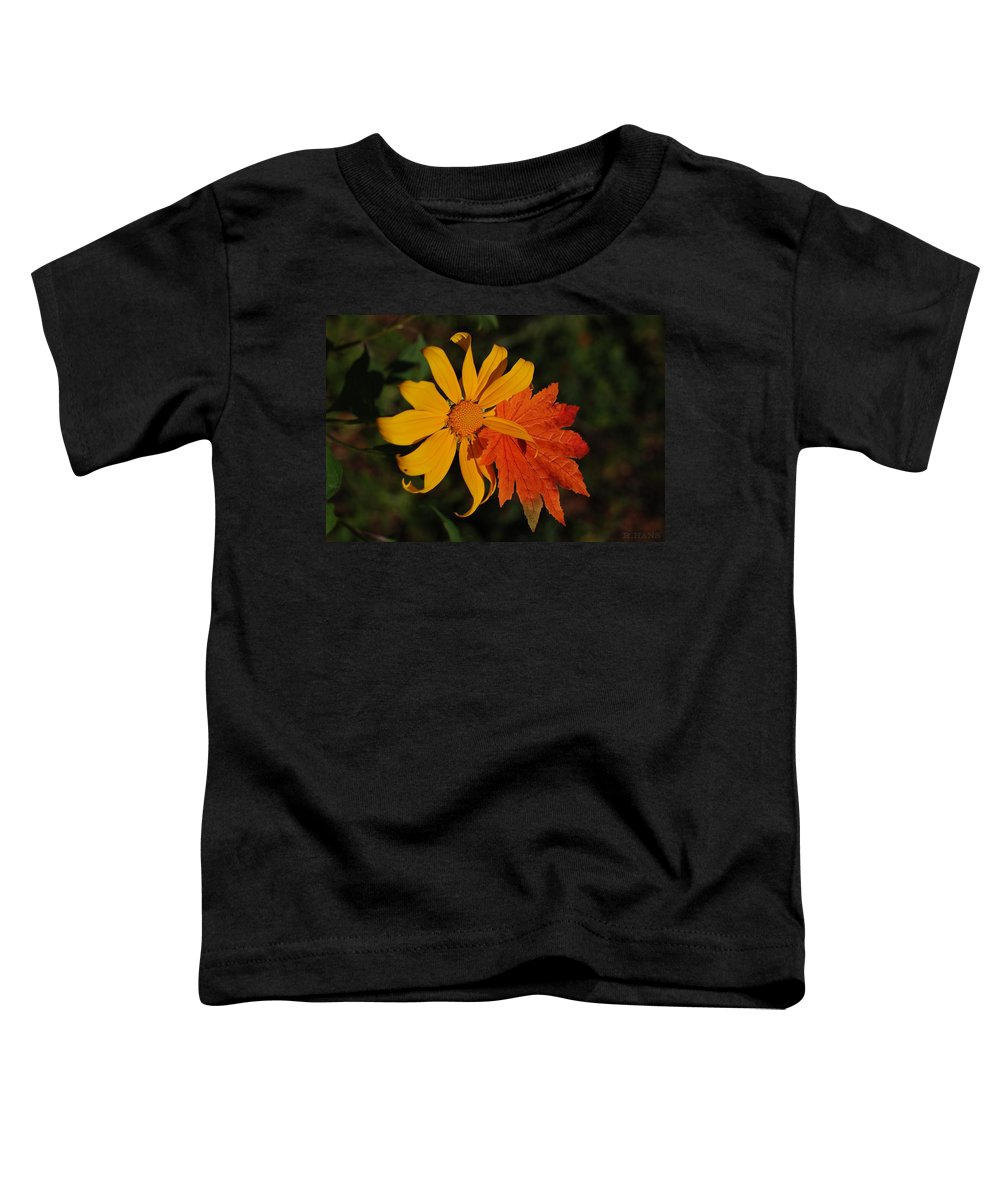 Pop Art Toddler T-Shirt featuring the photograph Sun Flower And Leaf by Rob Hans