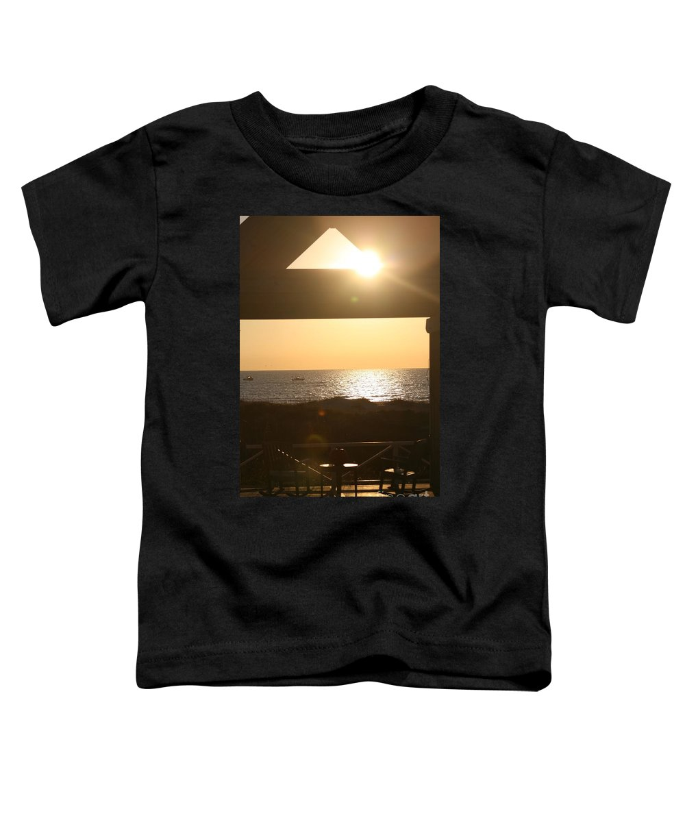 Sunrise Toddler T-Shirt featuring the photograph Sunrise Through The Pavilion by Nadine Rippelmeyer