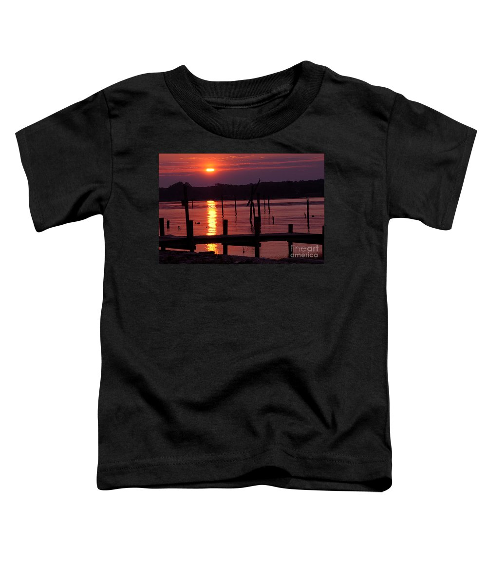 Clay Toddler T-Shirt featuring the photograph Sunset At Colonial Beach by Clayton Bruster