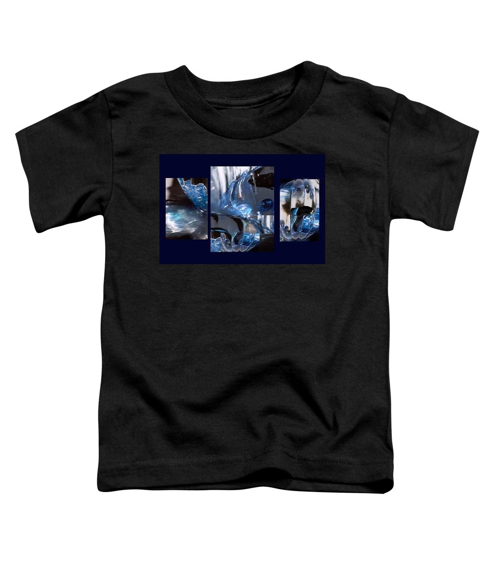 Abstract Of Betta In A Bowl Toddler T-Shirt featuring the photograph Swirl by Steve Karol