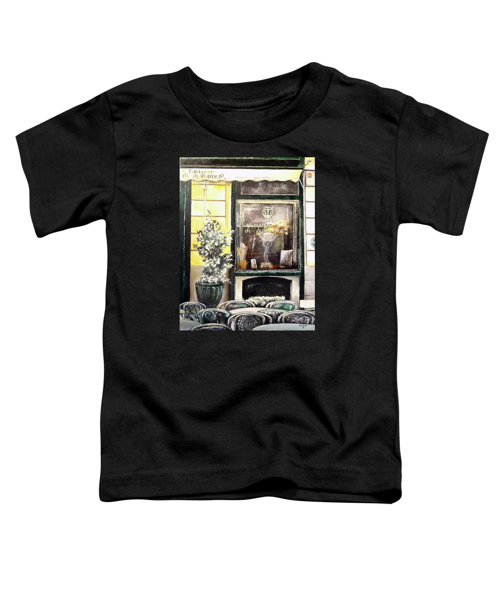 Old Toddler T-Shirt featuring the painting Taberna Del Alabardero-madrid by Tomas Castano