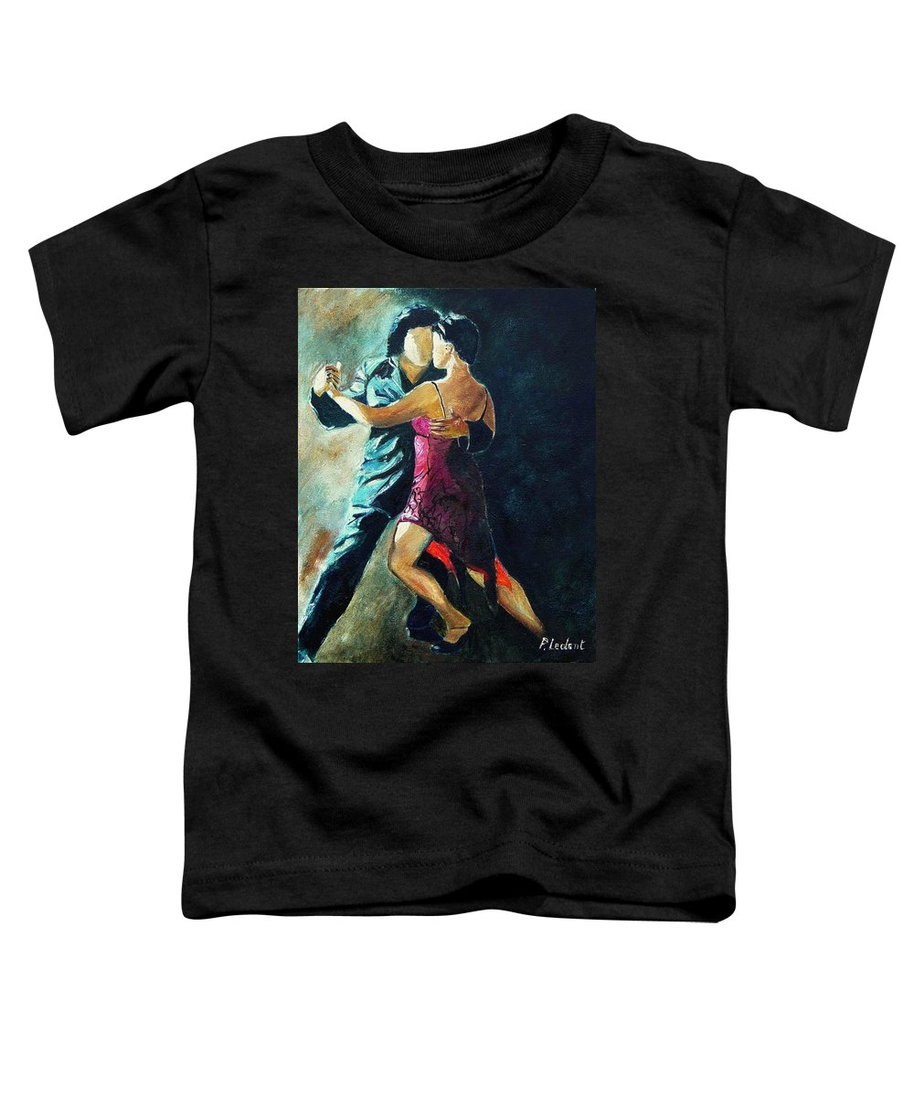 Tango Toddler T-Shirt featuring the painting Tango by Pol Ledent
