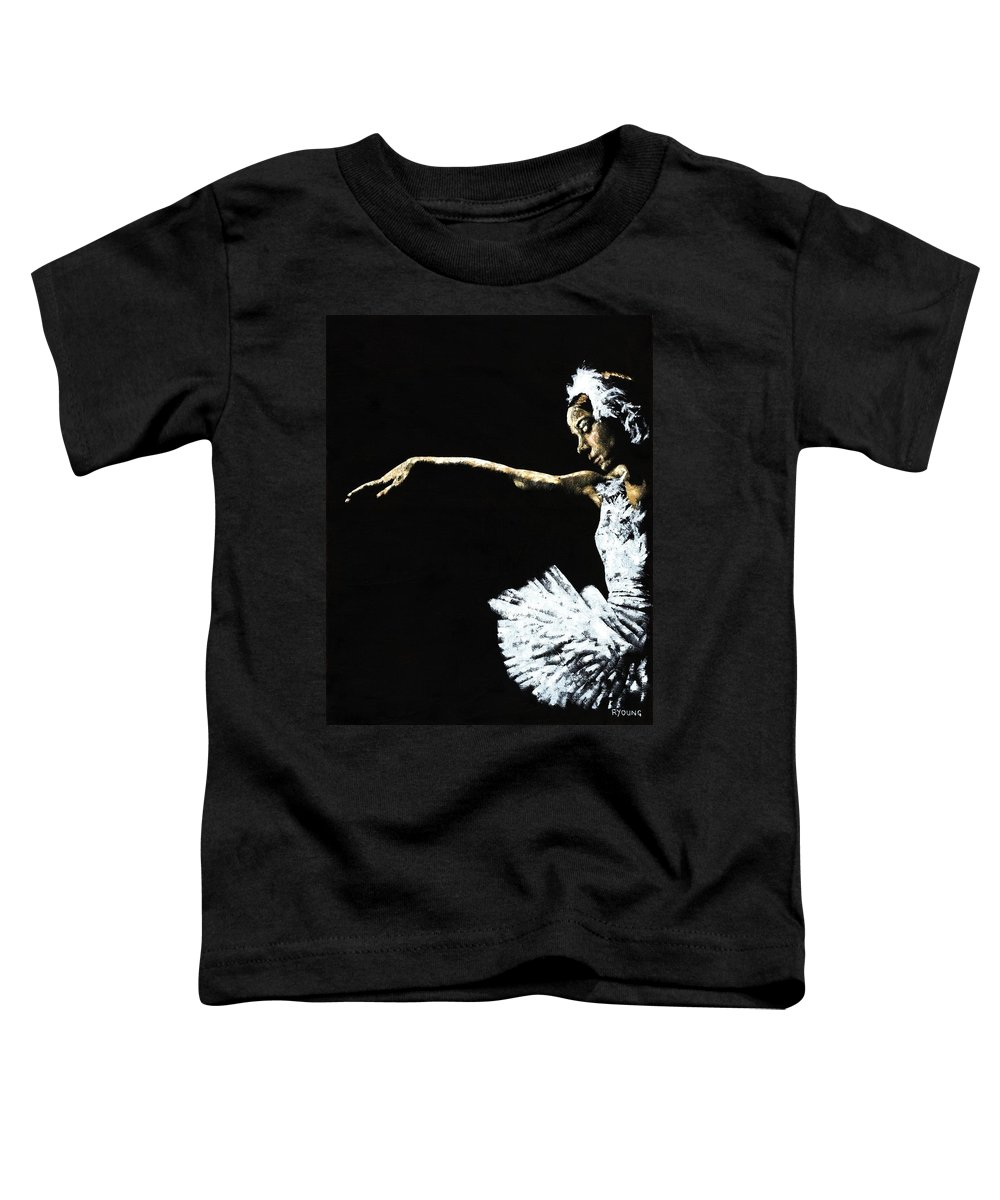 Ballet Toddler T-Shirt featuring the painting The Art Of Grace by Richard Young