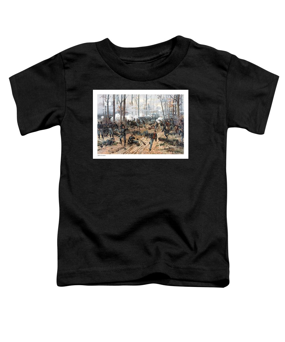 Civil War Toddler T-Shirt featuring the painting The Battle Of Shiloh by War Is Hell Store