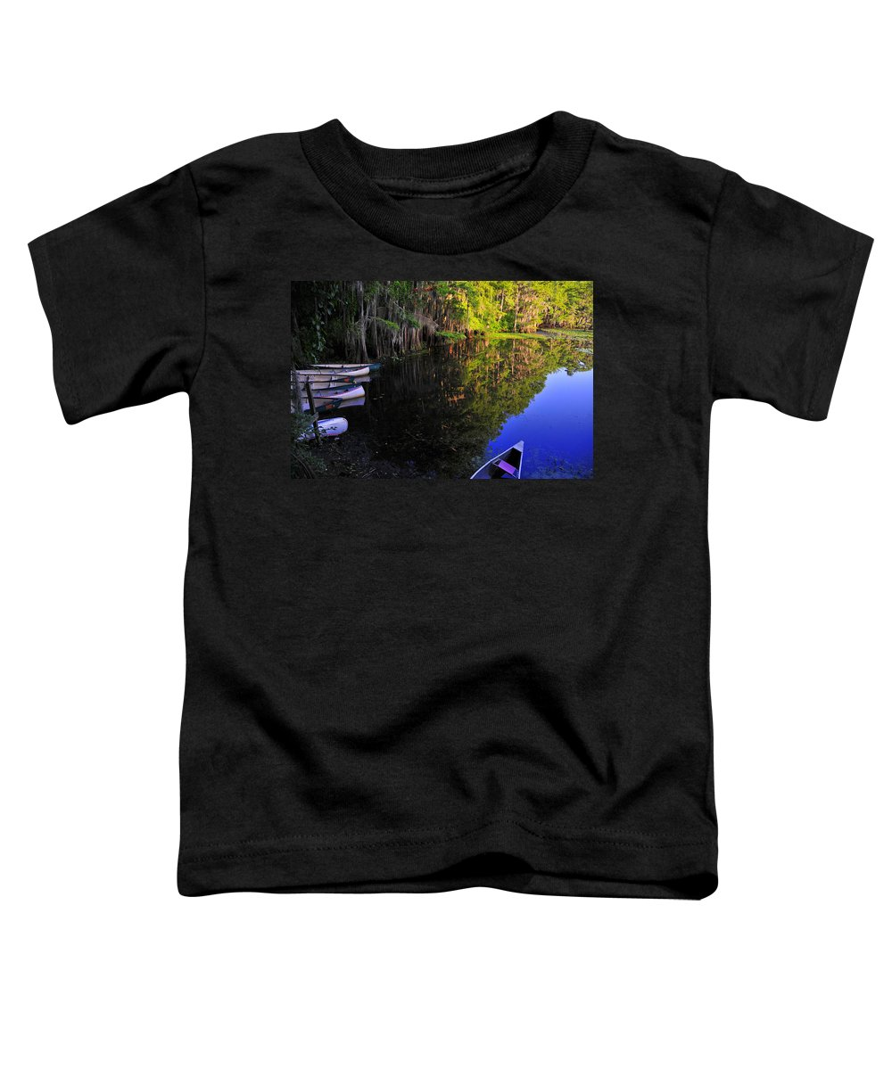 Skip Hunt Toddler T-Shirt featuring the photograph The Black Lagoon by Skip Hunt