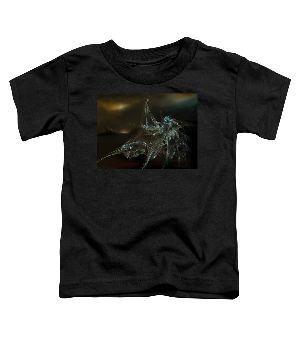 Dragon Warrior Medieval Fantasy Darkness Toddler T-Shirt featuring the digital art The Dragon Warrior by Veronica Jackson