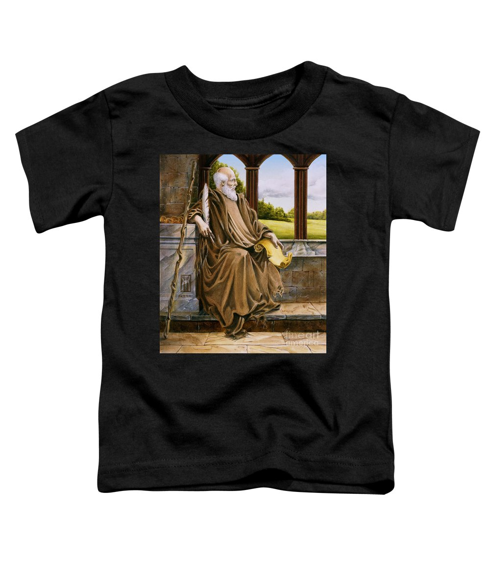 Wise Man Toddler T-Shirt featuring the painting The Hermit Nascien by Melissa A Benson