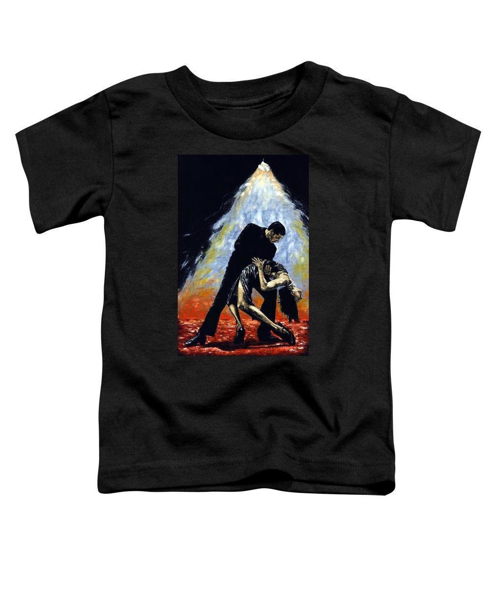 Tango Toddler T-Shirt featuring the painting The Intoxication Of Tango by Richard Young