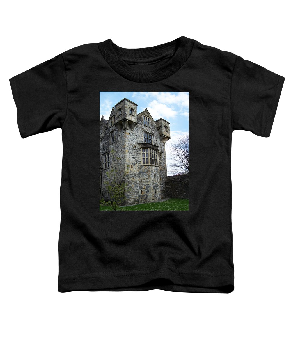 Ireland Toddler T-Shirt featuring the photograph The Keep At Donegal Castle Ireland by Teresa Mucha