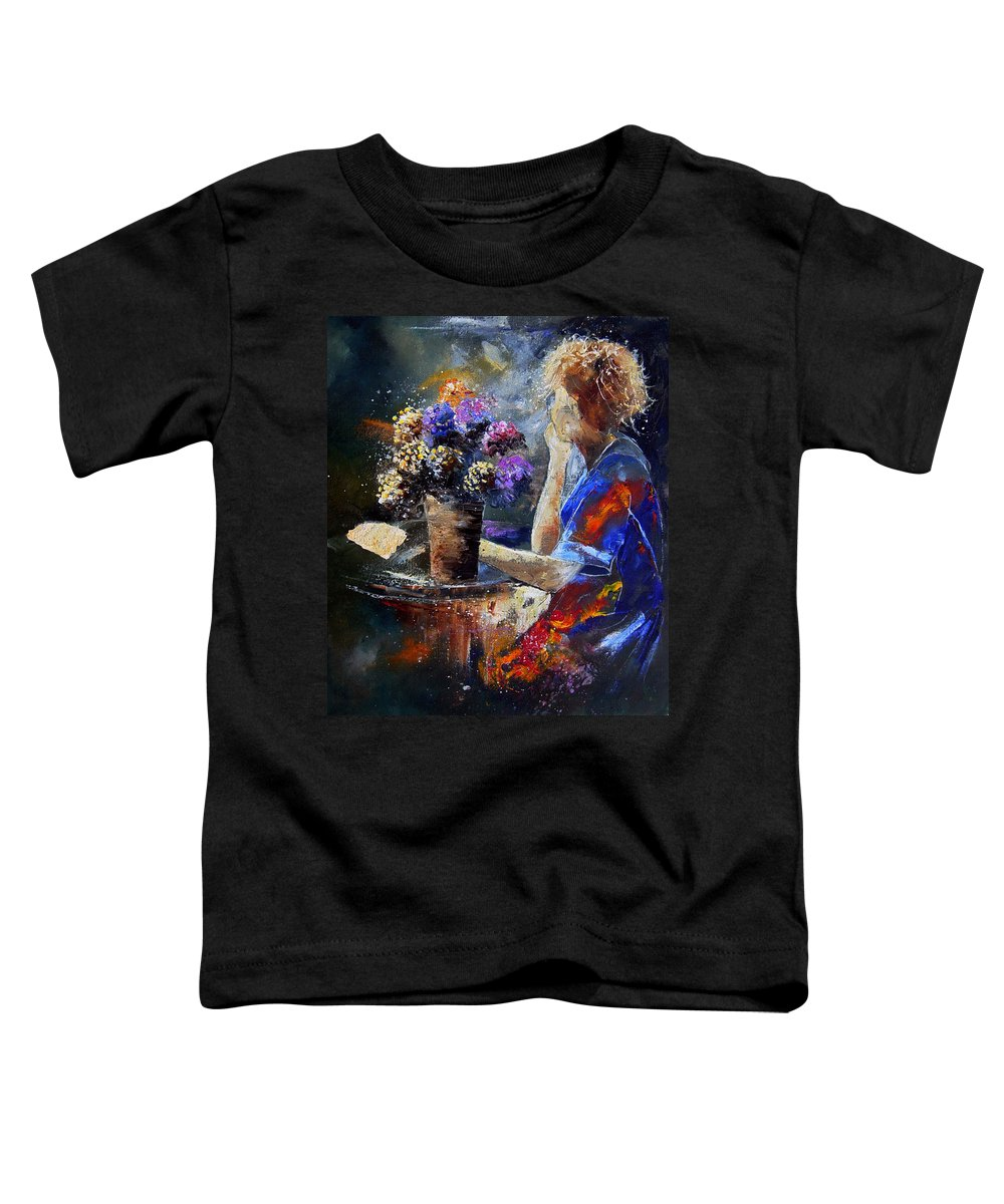 Girl Nude Toddler T-Shirt featuring the painting The Letter by Pol Ledent