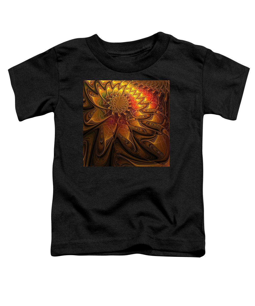 Digital Art Toddler T-Shirt featuring the digital art The Midas Touch by Amanda Moore