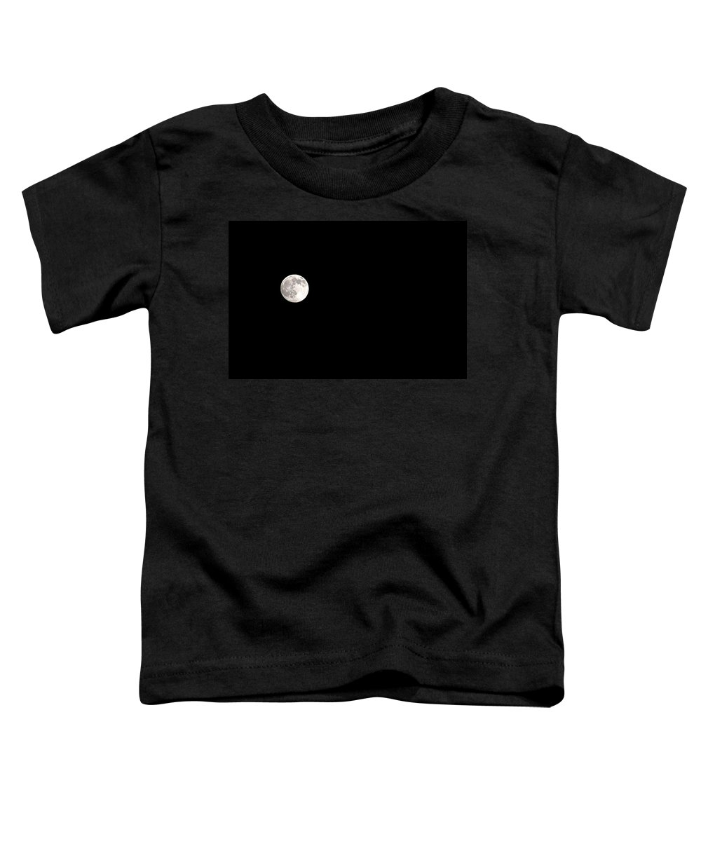 Clay Toddler T-Shirt featuring the photograph The Moon by Clayton Bruster
