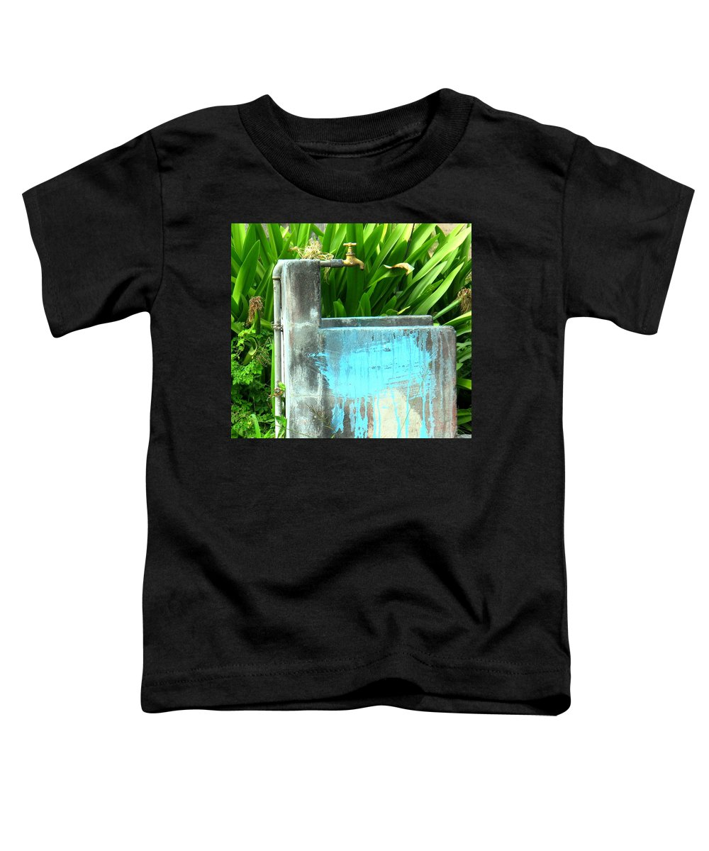 Water Toddler T-Shirt featuring the photograph The Neighborhood Water Pipe by Ian MacDonald