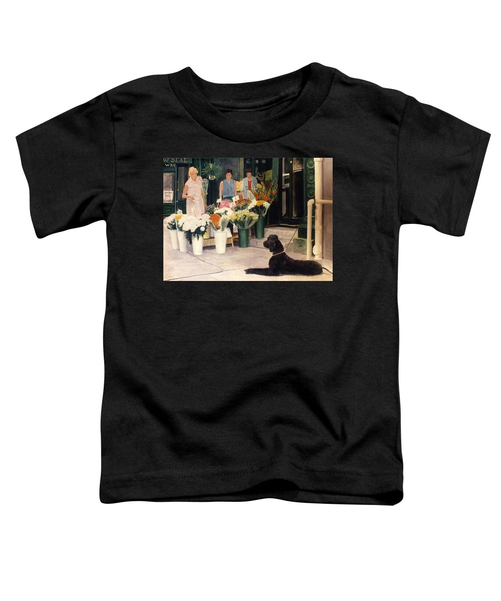 Mums Toddler T-Shirt featuring the painting The New Deal by Steve Karol