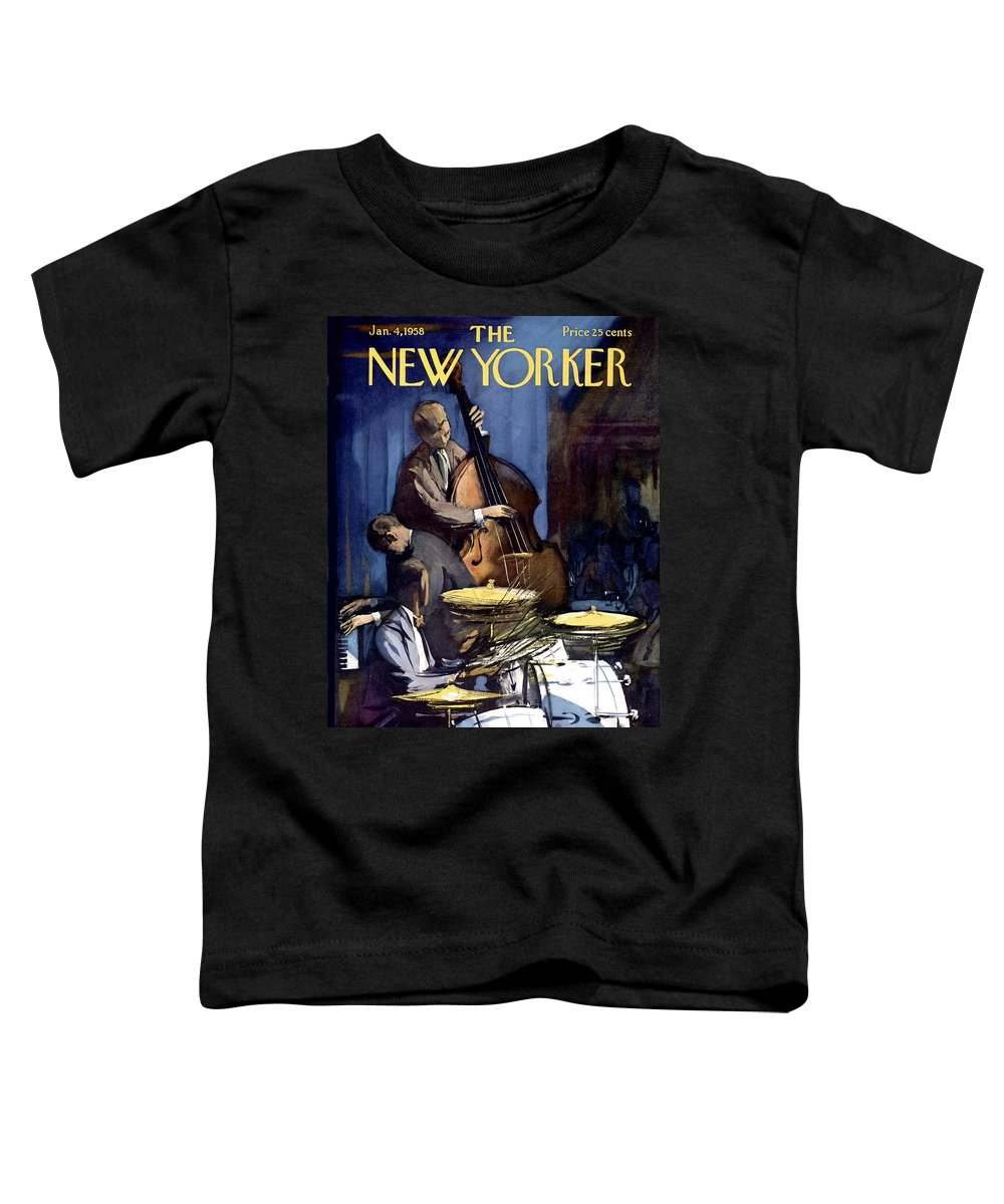 Concert Toddler T-Shirt featuring the painting The New Yorker Cover - January 4th, 1958 by Arthur Getz