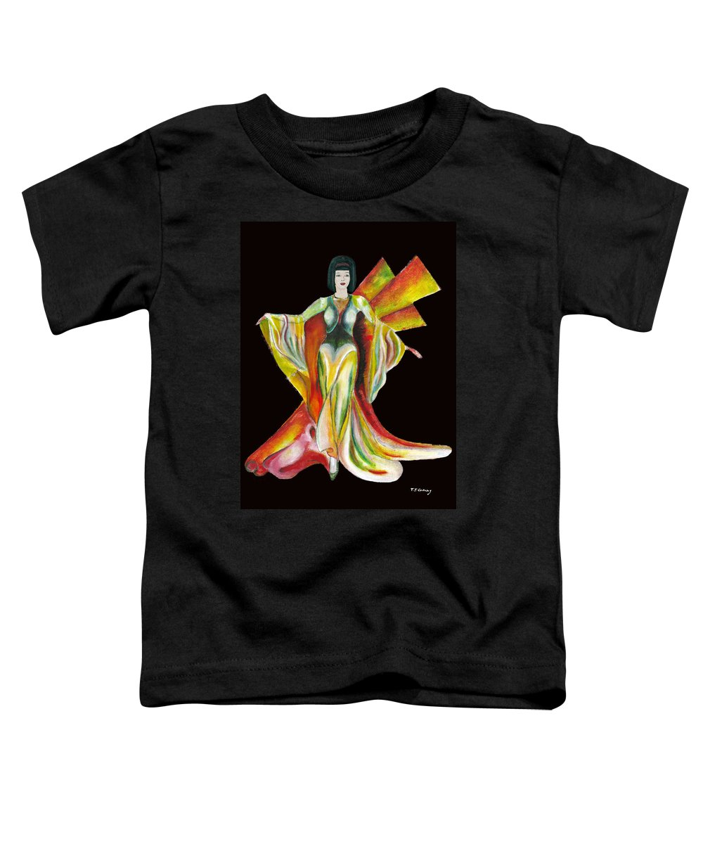 Dresses Toddler T-Shirt featuring the painting The Phoenix 2 by Tom Conway