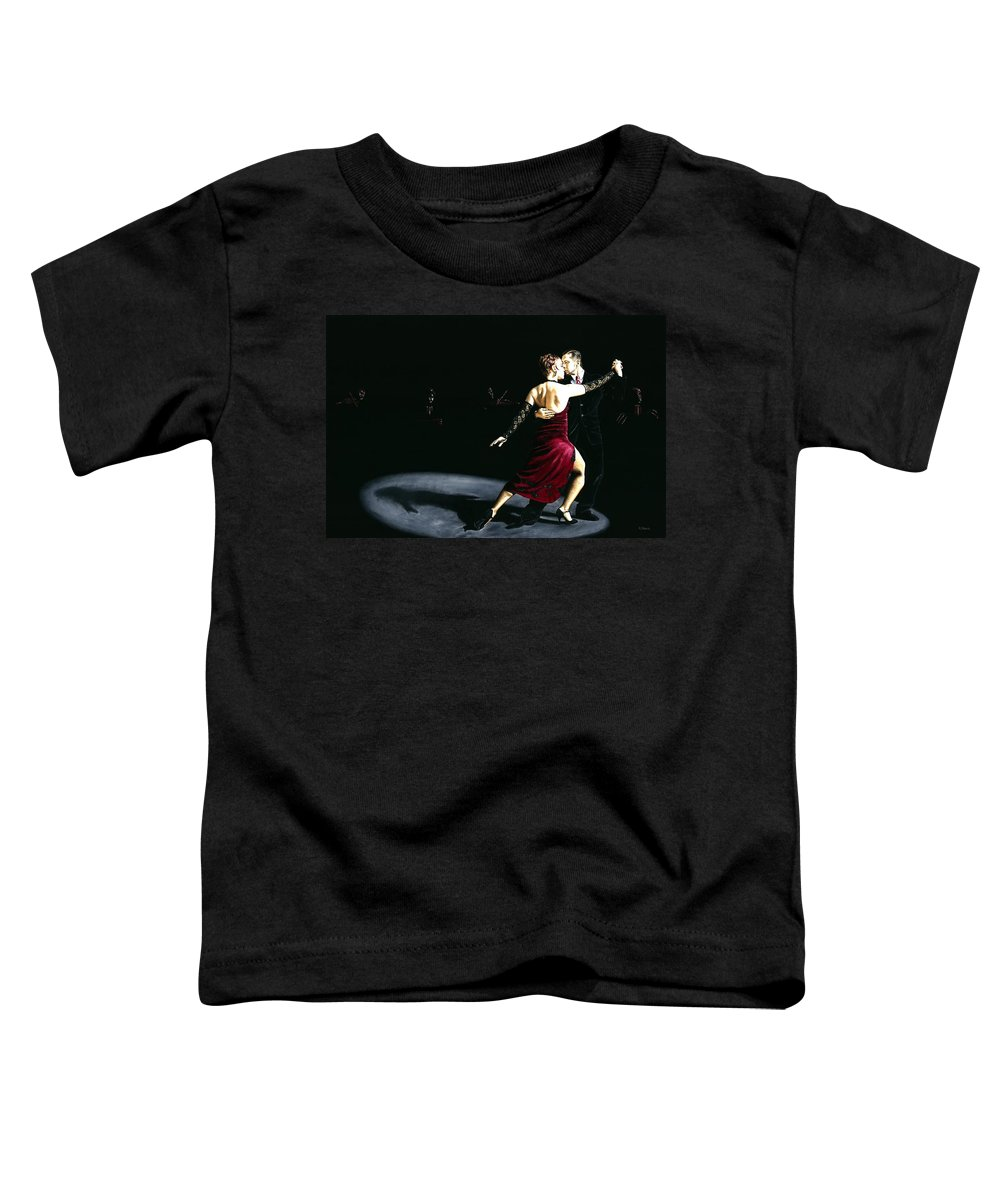 Tango Toddler T-Shirt featuring the painting The Rhythm Of Tango by Richard Young