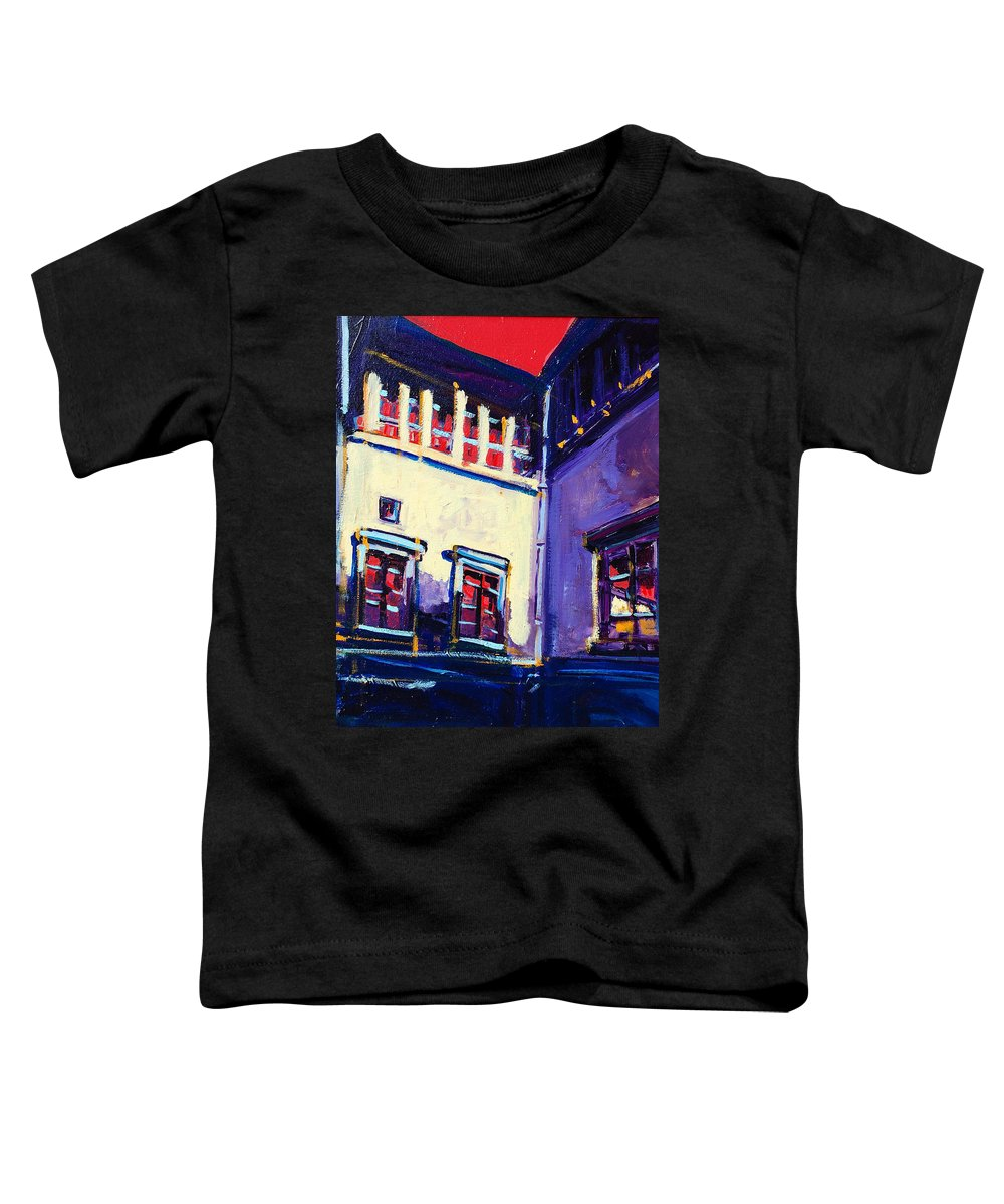 School Toddler T-Shirt featuring the painting The School by Kurt Hausmann