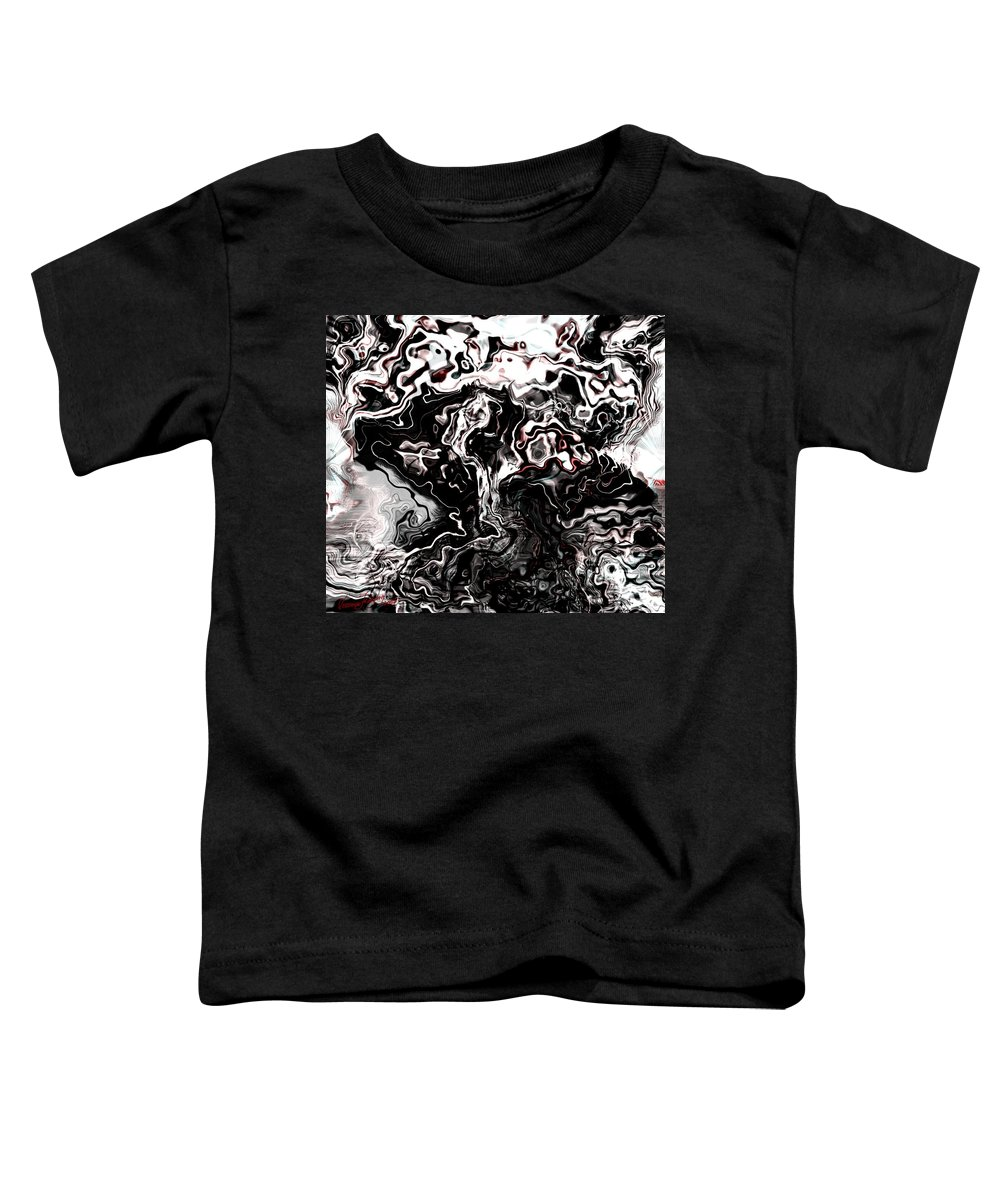 Storm Wind Clouds Nature Wind Toddler T-Shirt featuring the digital art The Storm by Veronica Jackson