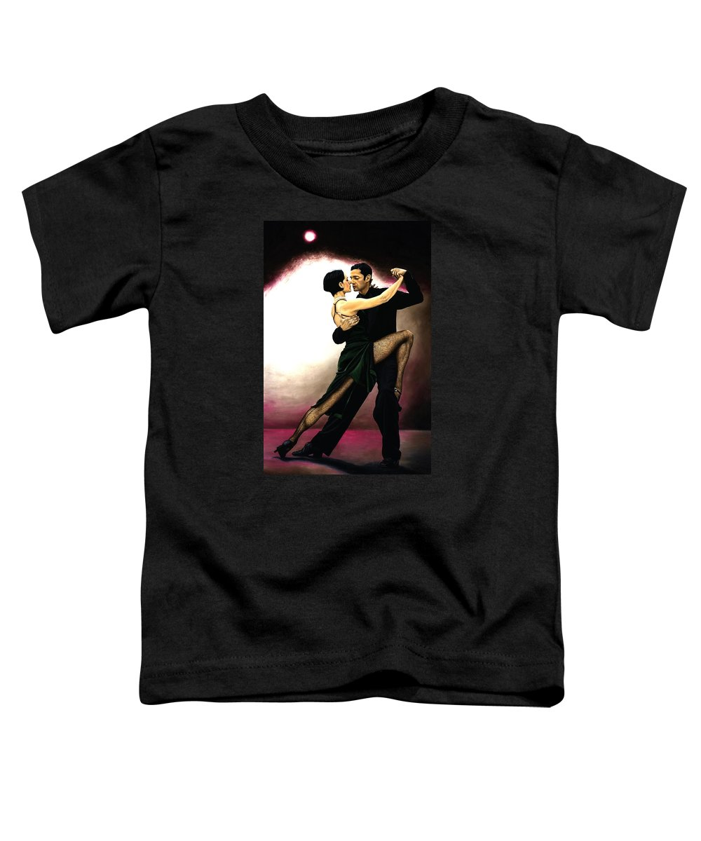 Tango Toddler T-Shirt featuring the painting The Temptation Of Tango by Richard Young