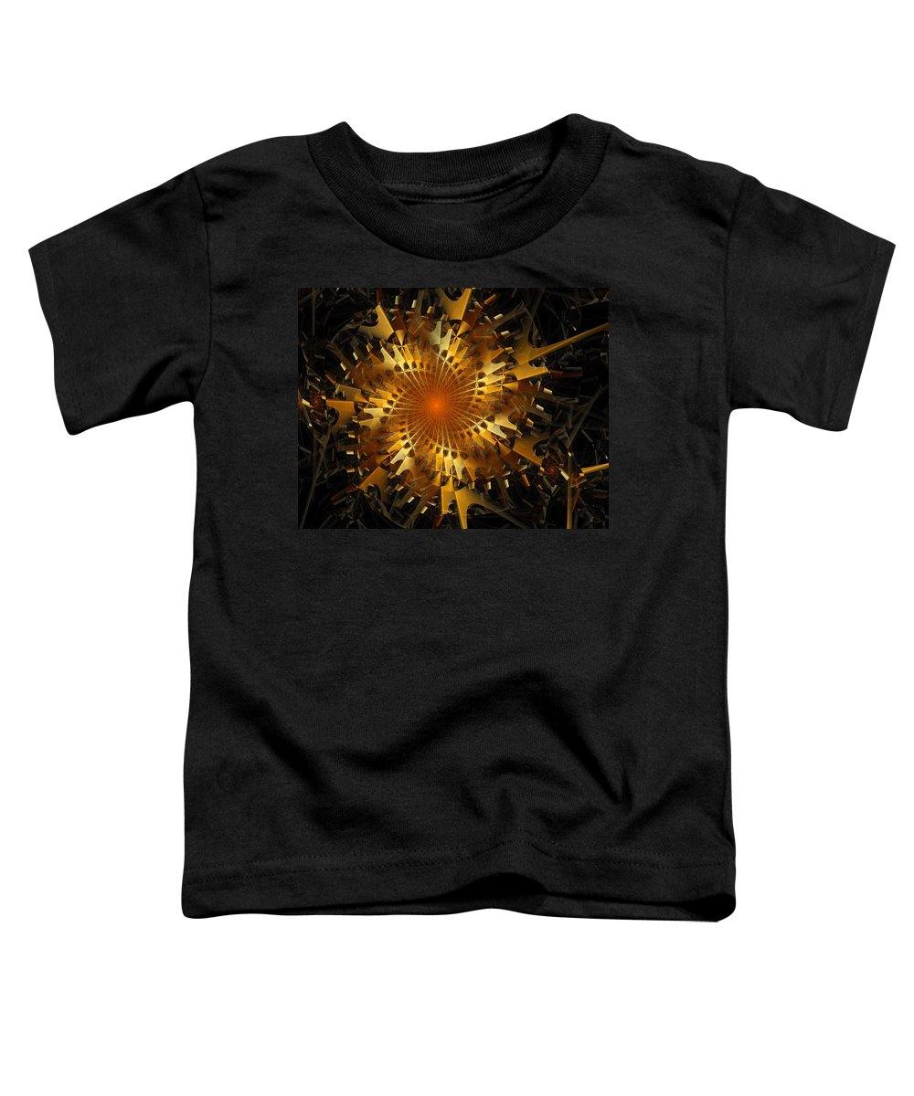 Digital Art Toddler T-Shirt featuring the digital art The Wheels Of Time by Amanda Moore