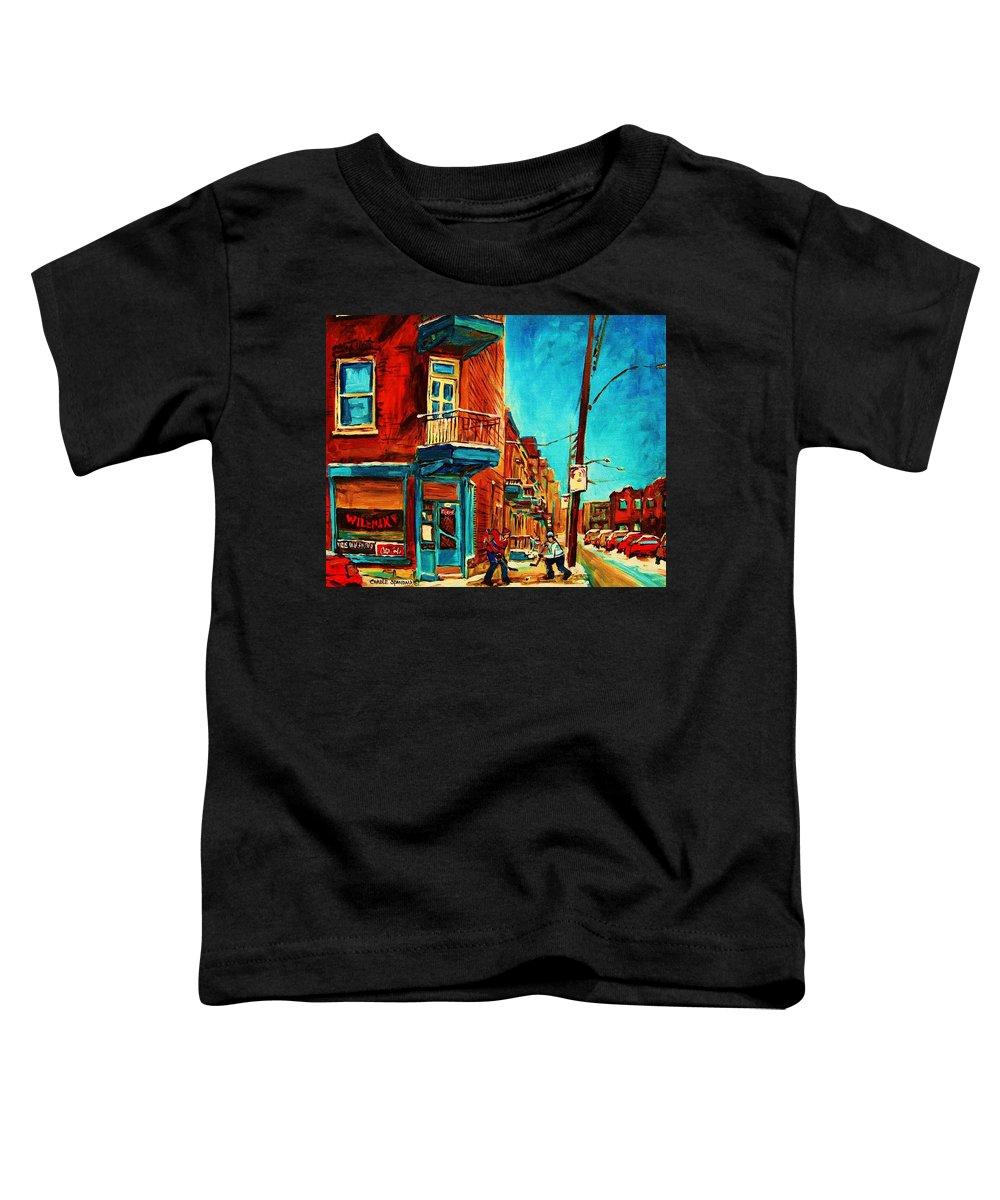 Wilenskys Doorway Toddler T-Shirt featuring the painting The Wilensky Doorway by Carole Spandau