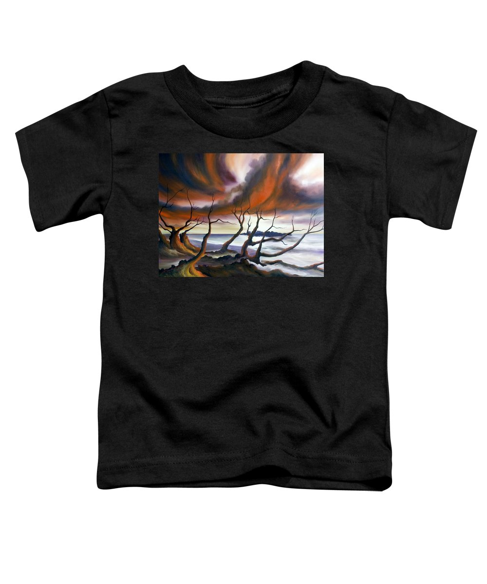 Marsh Toddler T-Shirt featuring the painting Tideland by James Christopher Hill