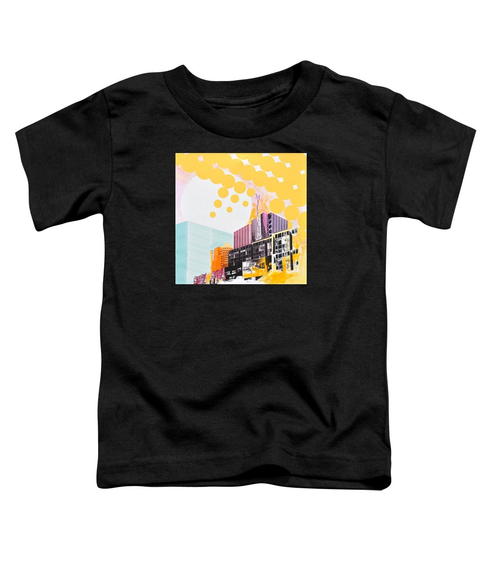 Ny Toddler T-Shirt featuring the painting Times Square Milenium Hotel by Jean Pierre Rousselet