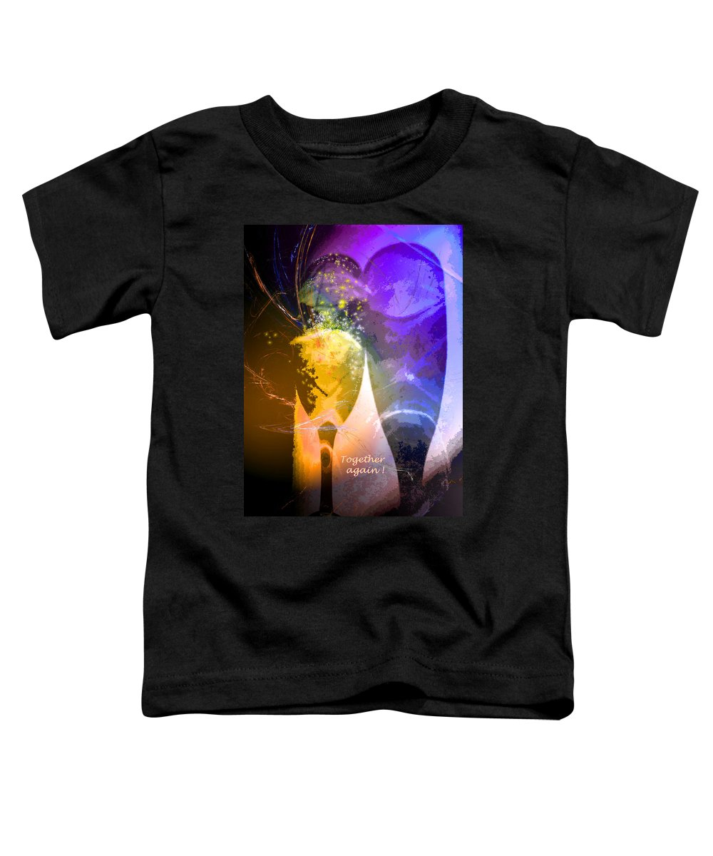 Fantasy Toddler T-Shirt featuring the photograph Together Again by Miki De Goodaboom