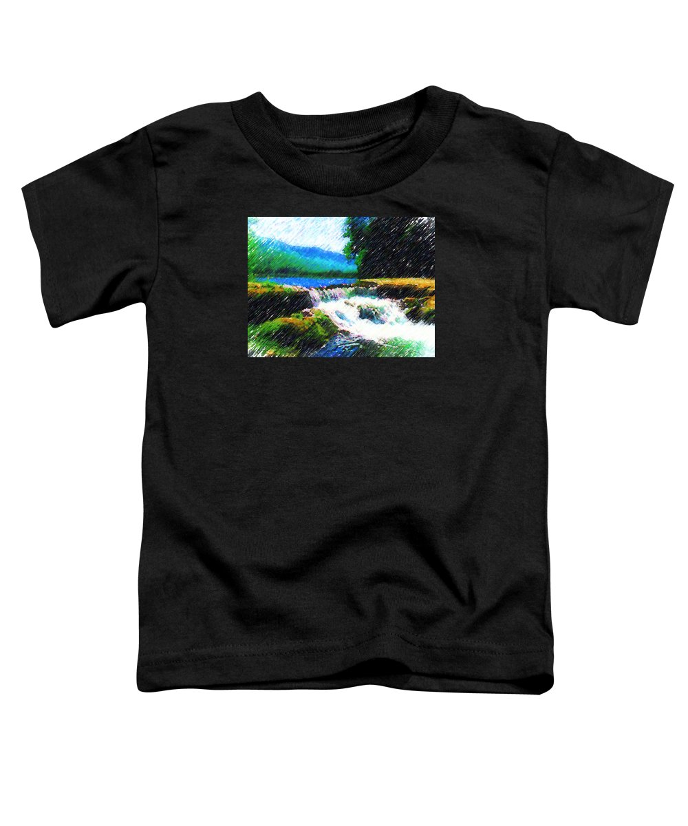 Landscape Toddler T-Shirt featuring the photograph Tolhuaca by Madalena Lobao-Tello