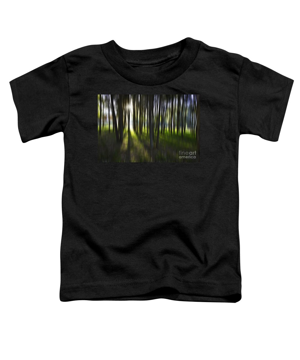 Trees Abstract Tree Lines Forest Wood Toddler T-Shirt featuring the photograph Tree Abstract by Avalon Fine Art Photography